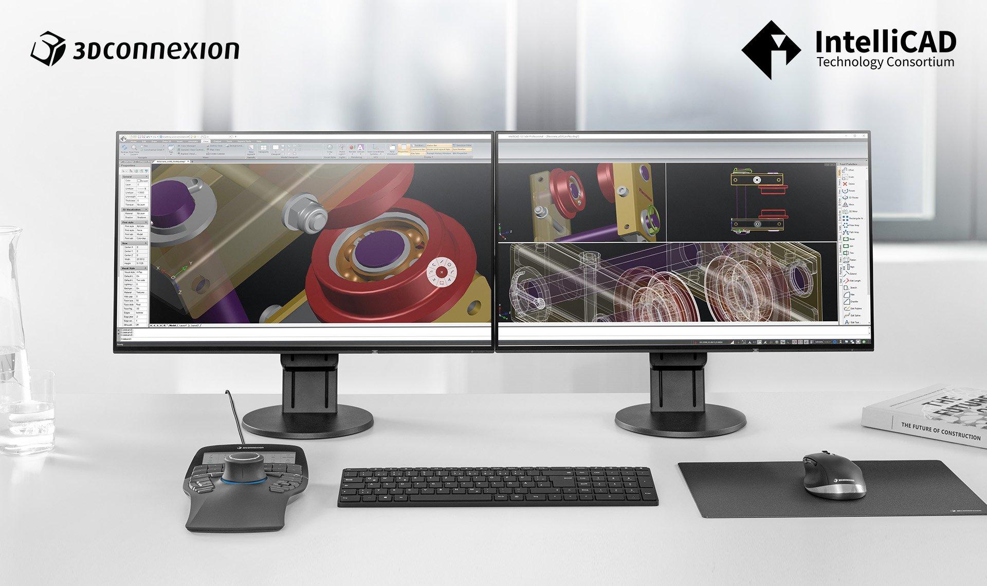 IntelliCAD-SpaceMouse Desktop Front