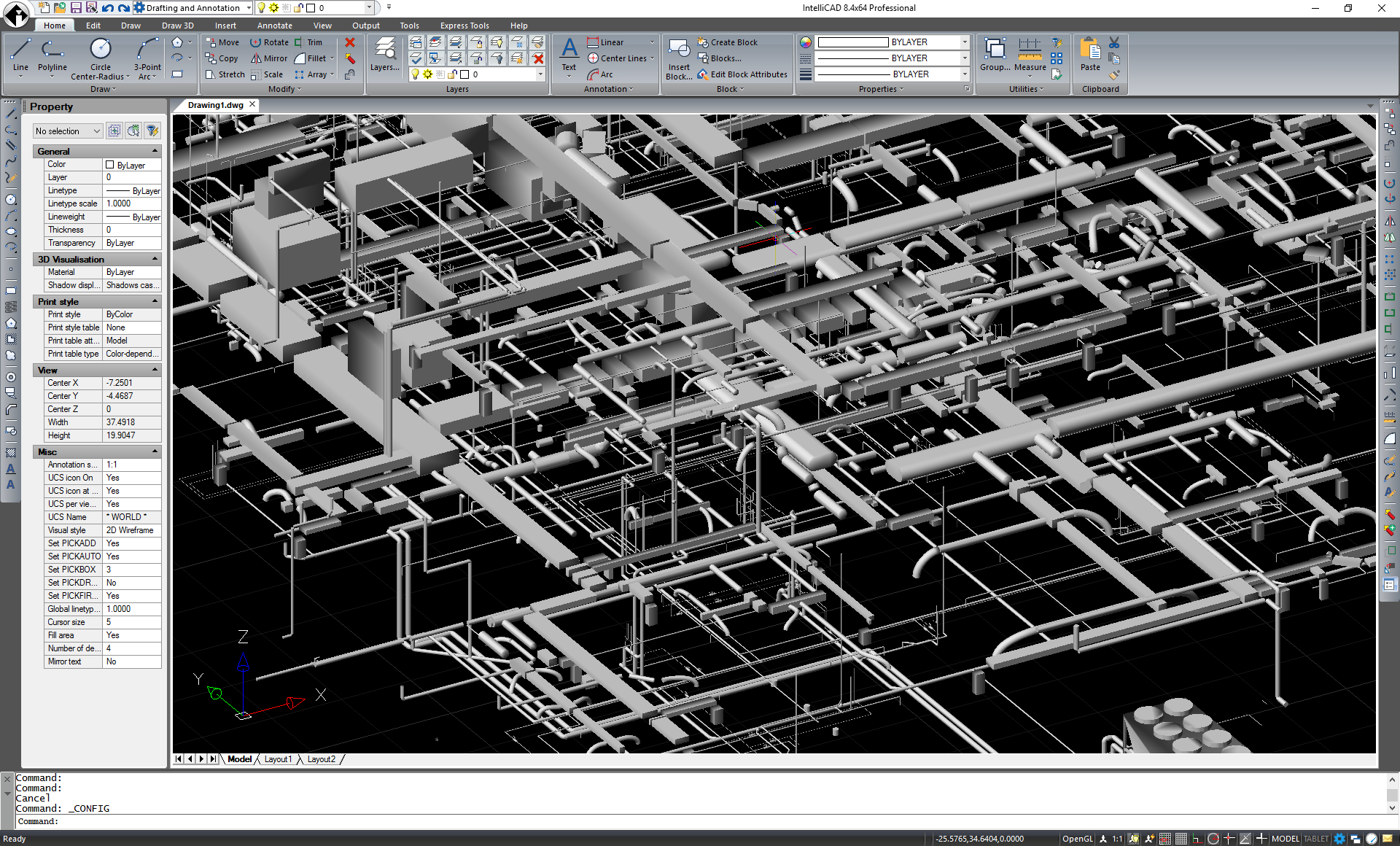 Itc Announces Intellicad Access To Version 2018 Dwg Files Hvac Drawing 84